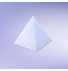 Pyramid basic geometric shape vector