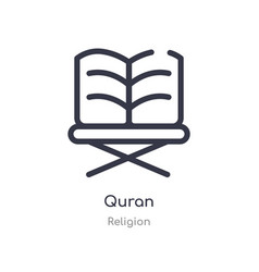 Quran outline icon isolated line from religion vector