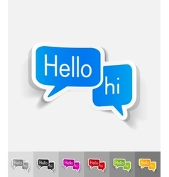 realistic design element chat vector image