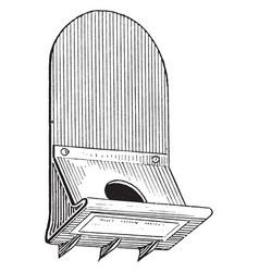 Roof bracket vintage vector