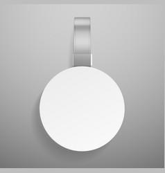 round wobbler retail dangler or advertising vector image