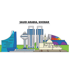 Saudi arabia khobar city skyline architecture vector