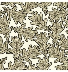 seamless pattern from oak leaves vector image