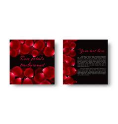 Soaring red rose petals vector