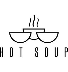 Soup icon design template with bowls vector