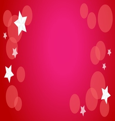 Stars on red background vector image