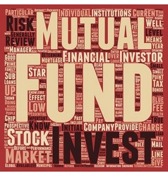 Stock Market Know Mutual Funds text background vector