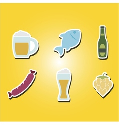 symbols of production and consumption of beer vector image