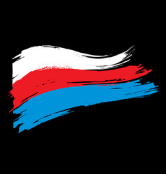 the flag of russia vector image