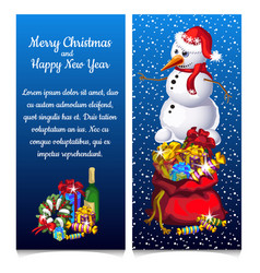 the pattern of double vertical christmas card with vector image