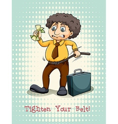 Tighten your belt idiom expression vector