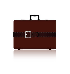 Travel bag with belts in brown color three variant vector
