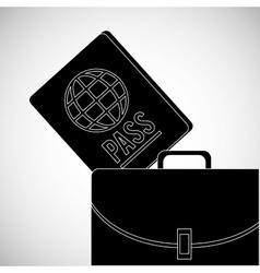 travel design passport icon Flat vector image
