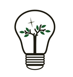 Tree in the lughtbulb - energy saving -eco vector