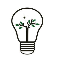 Tree in the lughtbulb - energy saving vector