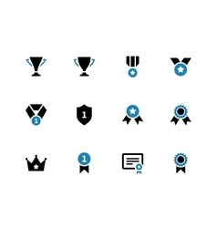 Trophy duotone icons on white background vector