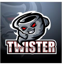 Twister mascot esport logo design vector