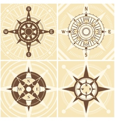 Vintage Compass Set vector