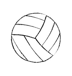 volleyball sport game icon sketch vector image