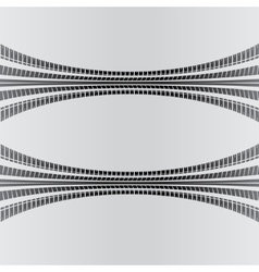 Warp tire track vector
