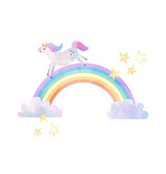 Watercolor unicorn vector