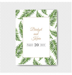wedding invitation isolated transparent background vector image