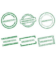 Wednesday stamps vector