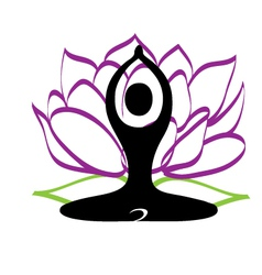 Yoga and lotus flower logo vector