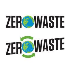 Zero waste badge or emblem design vector