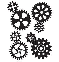 cogs and gears interlocking design vector image