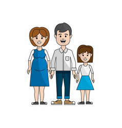 couple with their daughter icon vector image vector image
