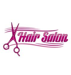 Hair Salon design - haircut or hair salon symbol vector image