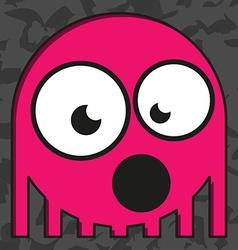 Monster on grunge background vector image