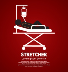 Patient Lay Down On Stretcher vector image vector image