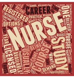 So You Want To Be A Nurse text background vector image vector image