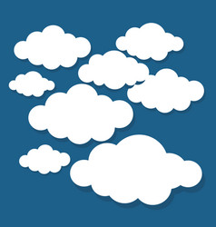 clouds set isolated creative modern concept vector image