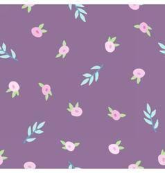 Cute floral violet pattern vector image