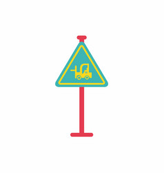 forklift in operation road sign vector image vector image