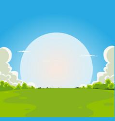 cartoon moonrise background vector image vector image