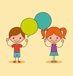 kids happy vector image vector image