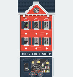 old book shop vector image