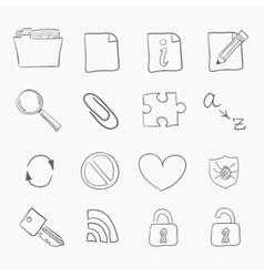 sketch icon set vector image vector image