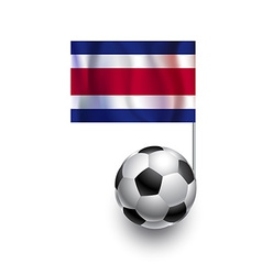 Soccer Balls or Footballs with flag of Costa Rica vector image