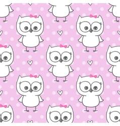 baby owl vector image vector image