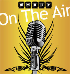 on the air vector image vector image