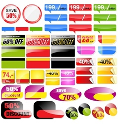 Retail Sales Elements vector image vector image