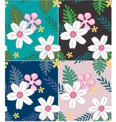 seamless flower pattern design vector image