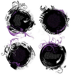 Set of grunge rounded banners vector image vector image