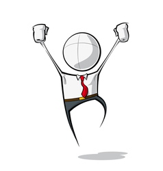 Simple Business People Victory vector image vector image