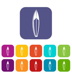 surfboard icons set vector image